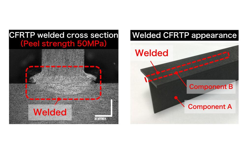 CFRTP Component Continuous Welding