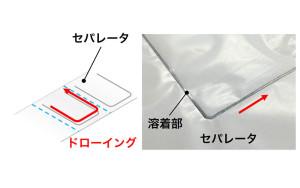 3-010 Liイオンバッテリー(セパレータ溶着)